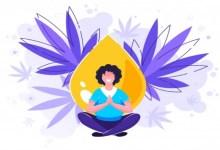 femme Yoga vecteur