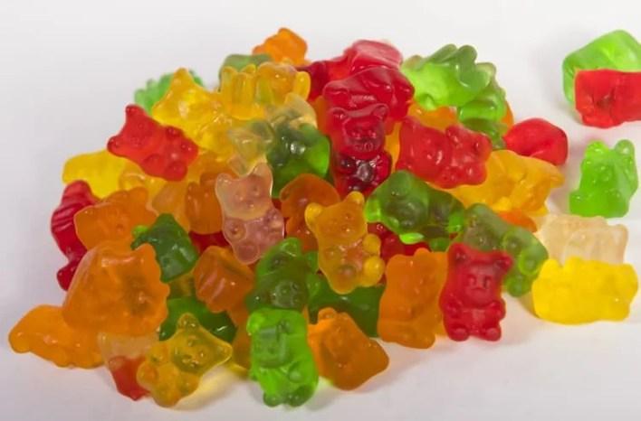 pile de bonbon au cbd en ourson