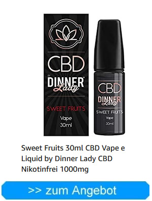 Sweet Fruits 30ml CBD Vape e Liquid by Dinner Lady CBD Nikotinfrei 500mg