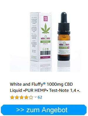 White and Fluffy 1000mg CBD Liquid