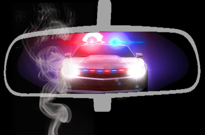 police search car for weed