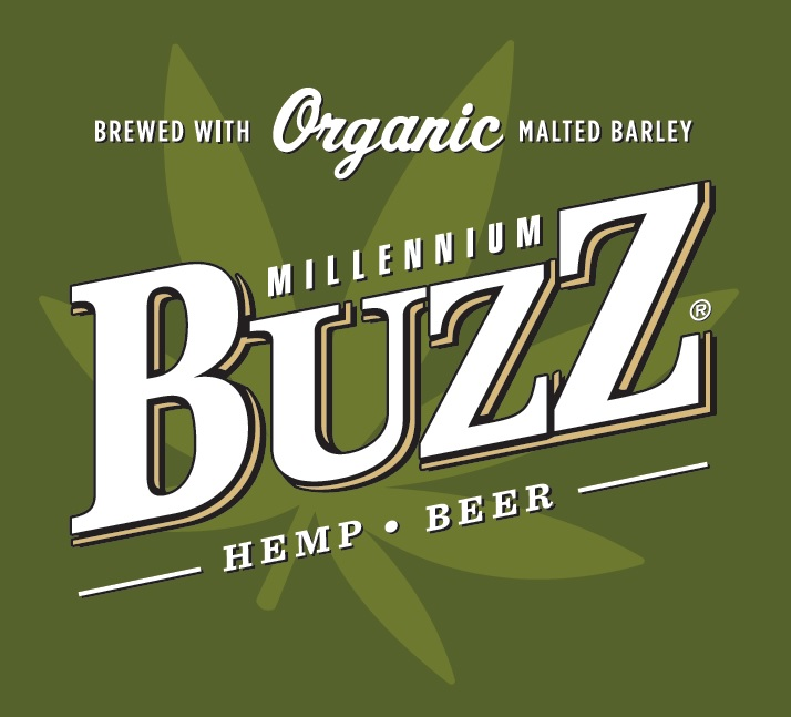Buzz Hemp Beer logo w leaf