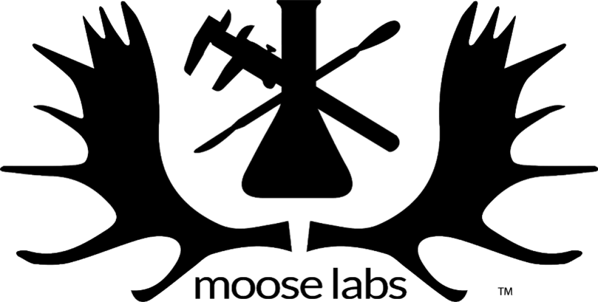 moose labs logo handsome shot of moose antlers and science of extraction