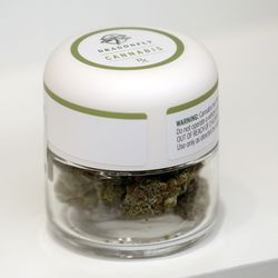 Dragonfly cannabis is for sale at Curaleaf, a cannabis dispensary, in Lehi on Wednesday, Sept. 23, 2020.