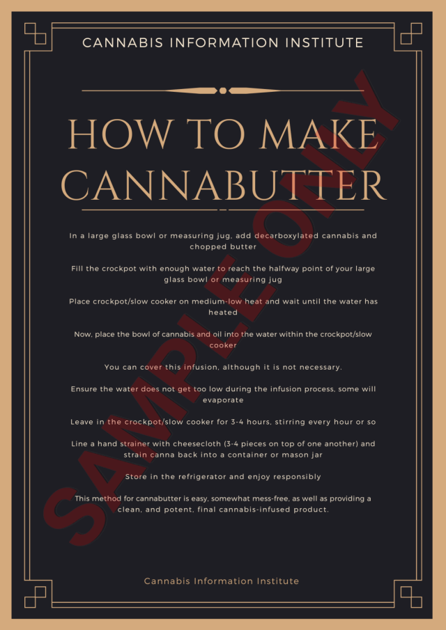 How to make cannabutter, cannabutter slow cooker, cannabutter crockpot, easy cannabutter method, easiest cannabutter recipe, cannabutter recipe, how to make your own cannabis butter at home, homemade cannabutter, cannabis and butter, infused butter, flower to oil ratio, butter to cannabis ratio, cannabis butter recipe for edibles,