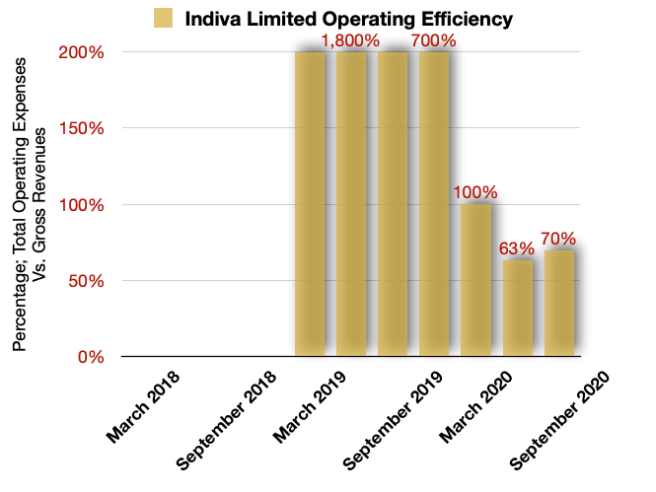 Indiva Limited Operating Efficiencies