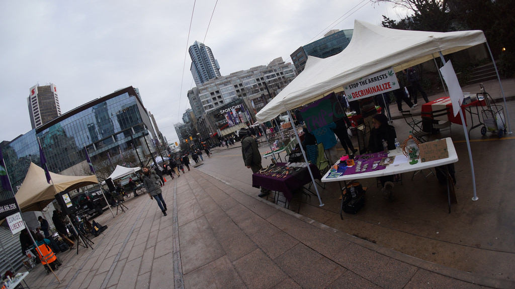 The open air Robson Square Market. Photo courtesy of Terry David.