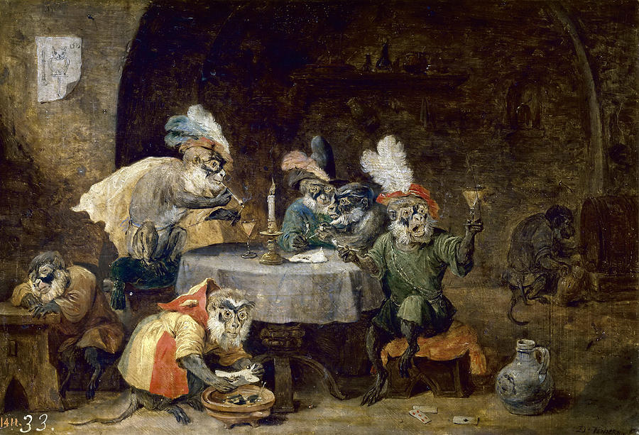 monkeys-smoking-and-drinking-david-teniers-the-younger