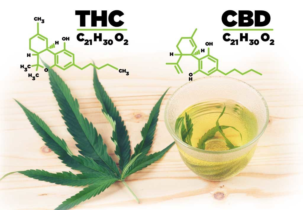 CBD and THC structure
