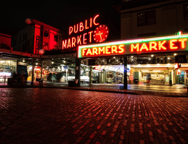 Pike Place Market is a foodie spot visiting Seattle