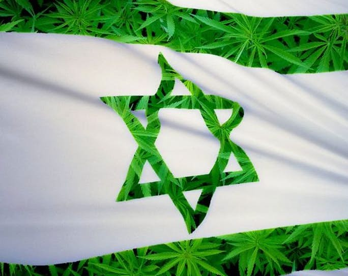 israel weed export flag