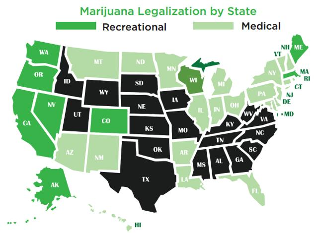 legalized cannabis map