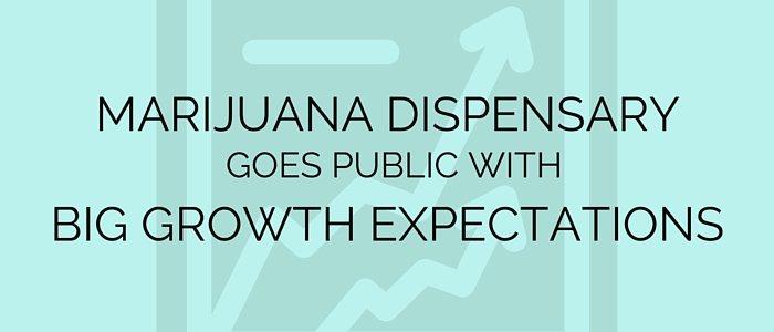 Marijuana Dispensary Goes Public with Big Growth Expectations