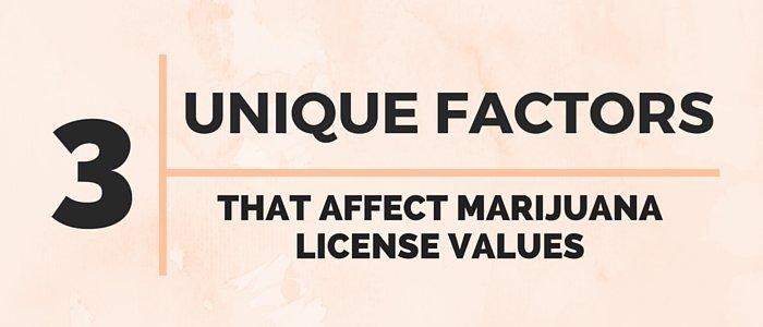 3 Unique Factors that Affect Marijuana License Values