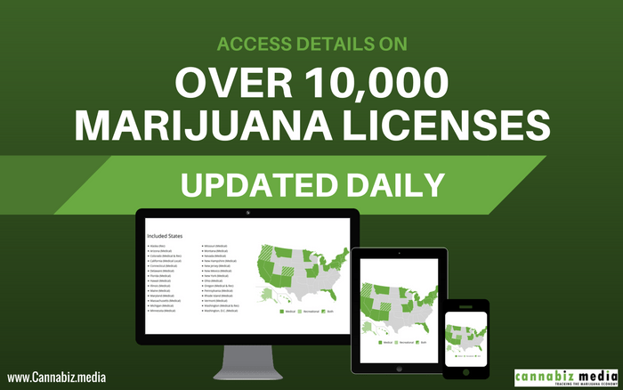 Access Detailed Data on over 10,000 Marijuana Licenses Updated Daily