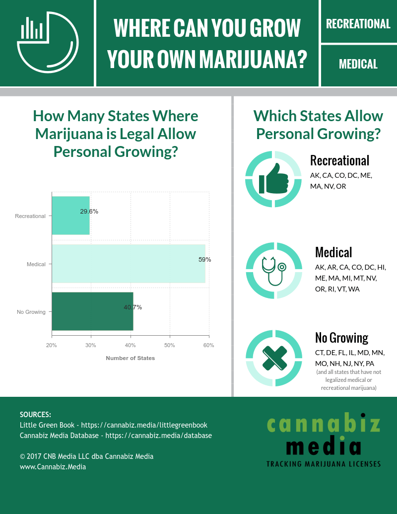 Marijuana Personal Growing Infographic