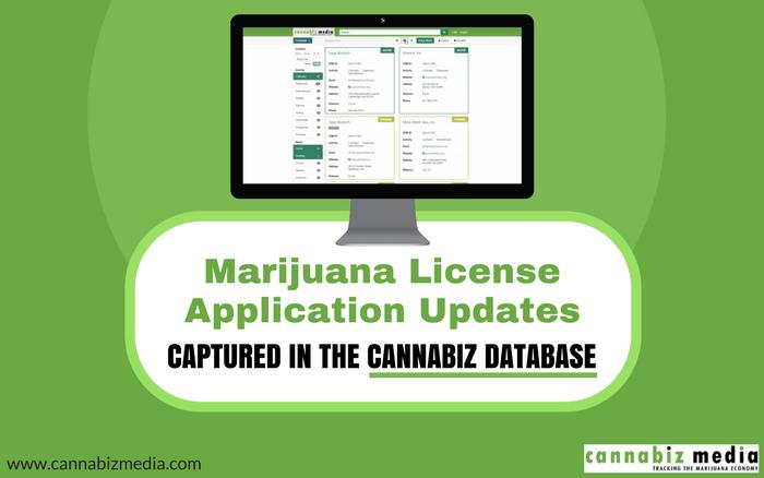 Marijuana License Application Updates Captured in the Cannabiz Database