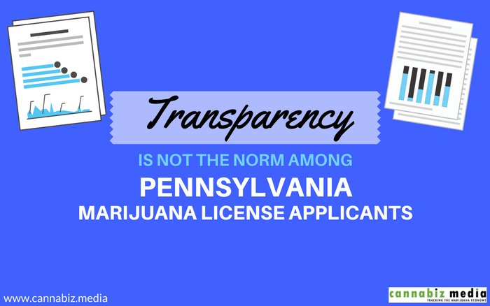 Transparency is Not the Norm among Pennsylvania Marijuana License Applicants