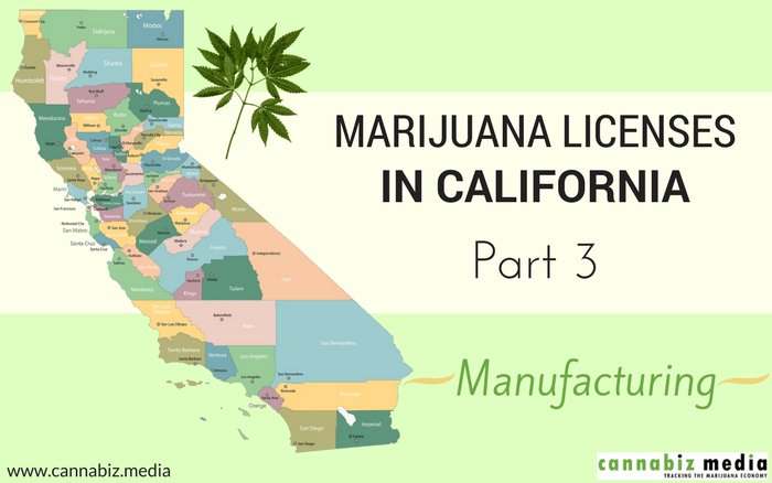 Marijuana Licenses in California – Part 3: Manufacturing