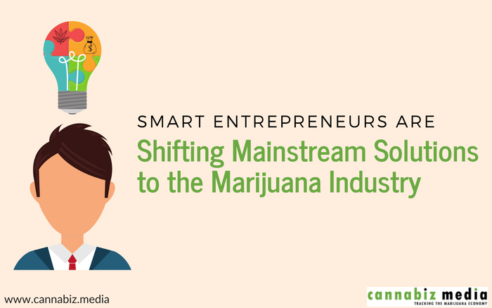 Smart Entrepreneurs are Shifting Mainstream Solutions to the Marijuana Industry