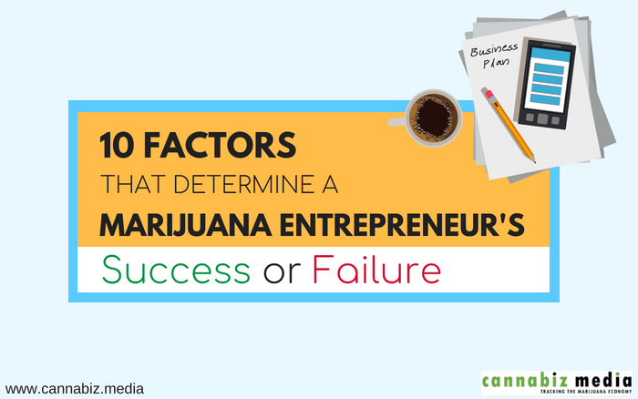 10 Factors that Determine a Marijuana Entrepreneur's Success or Failure