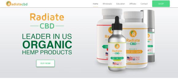 Screenshot 2019 06 03 Shop US Organic Only CBD Products 1 For US Hemp RadiateCBD 700x313 - Radiate CBD