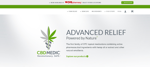 Screenshot 2019 06 16 Advanced Relief powered by nature CBDMEDIC - CBD Medic