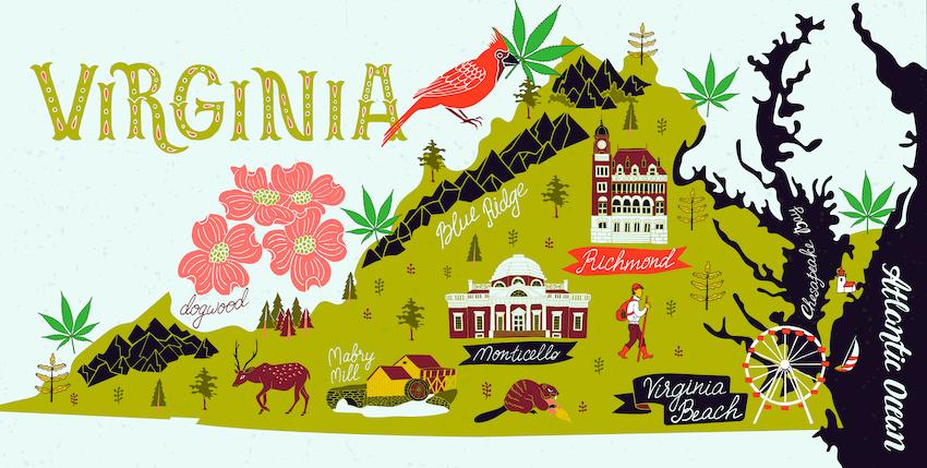After the 2018 Farm Bill Virginia low-thc high cbd hemp flower legal in Virginia