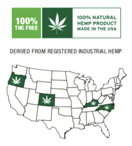 Broad Spectrum Zero THC Hemp Oil Distillate Map