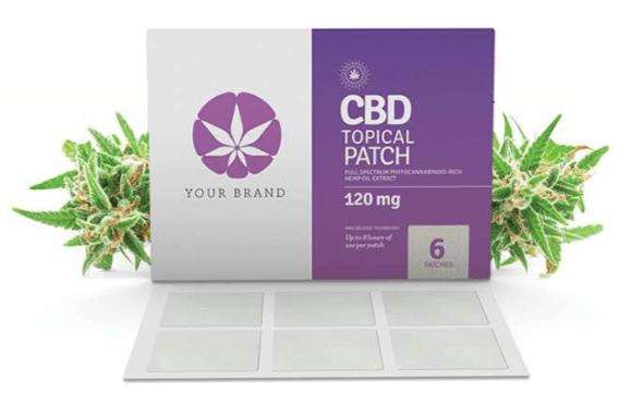 CannaGlobe Custom Private Label CBD Topical Patch