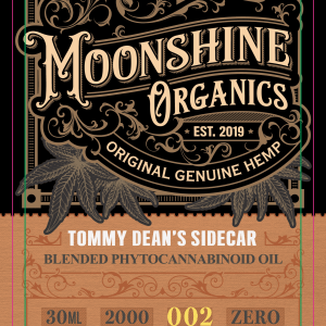 Moonshine Organics Craft Cocktail Collection Sidecar Label