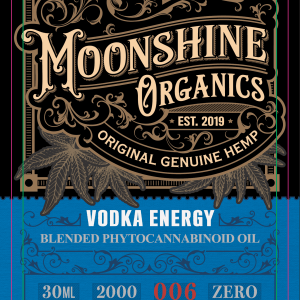 Moonshine Organics Craft Cocktail Collection Vodka Energy Label