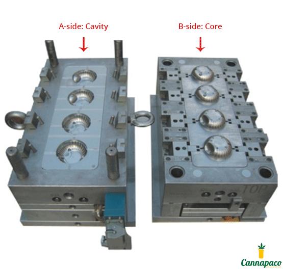 4-Cavity Injection Mold