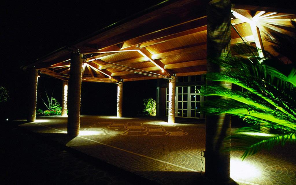 Illuminazione esterna casa di campagna luci led per illuminazione