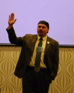 Russ Belville, host of 420Radio gives a presentation on debating effectively for marijuana at the Texas Regional NORML Conference.