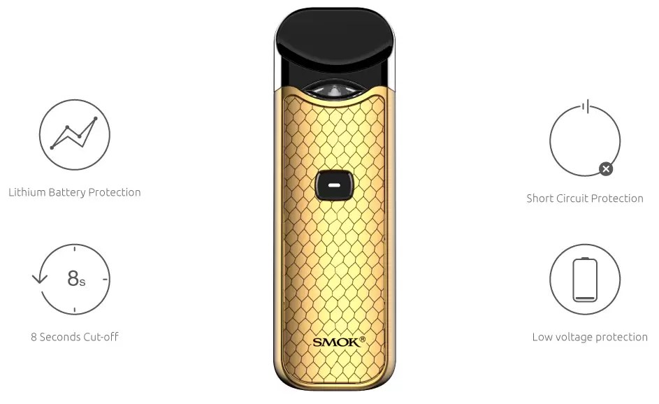 Photo of the Smok Nord pod device used for vaping
