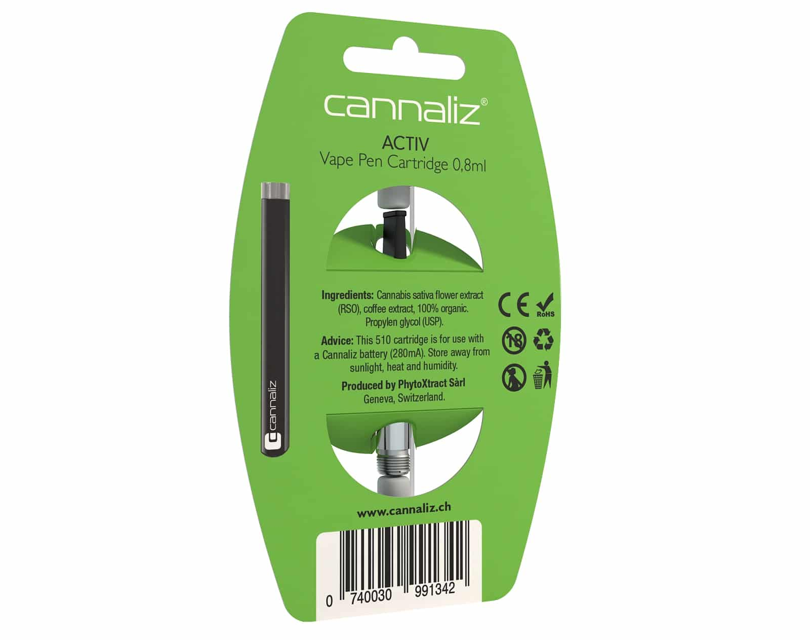 Cannaliz E-Cigarette ACTIV back