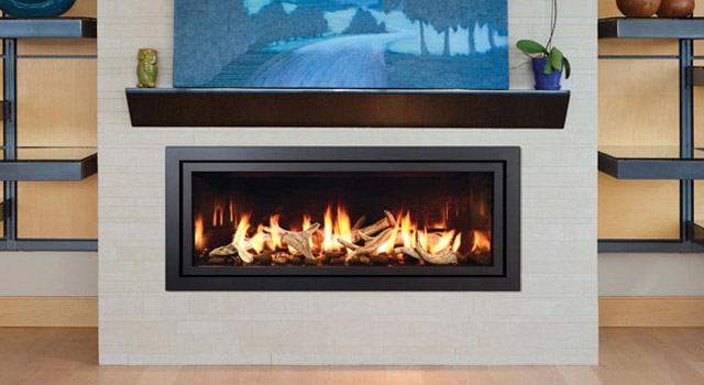 Luxury Fireplace Mantels Mendota Ml47-mod Fullview Modern Linear Gas Fireplace