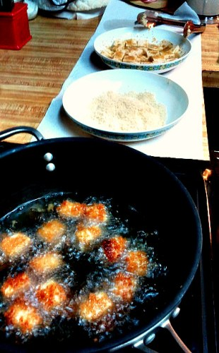 Frying Tofu assembly line