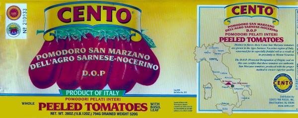 Cento San Marzano Peeled Tomatoes Il Bello Pomodoro