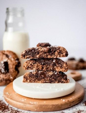 Cookies choco coco et bouteille de lait