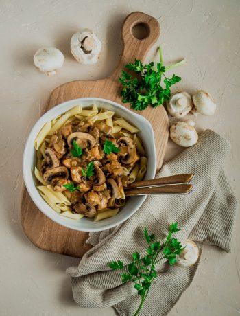 Poulet crémeux champignons et Marsala