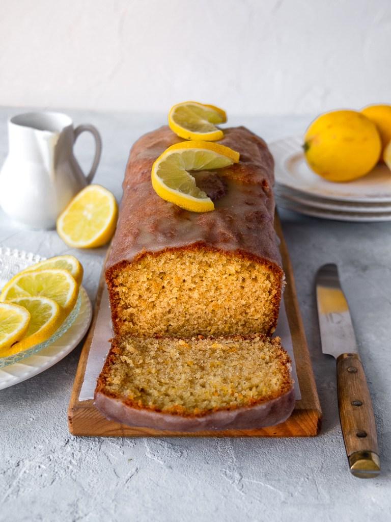 cake tranché citron et huile d'olive
