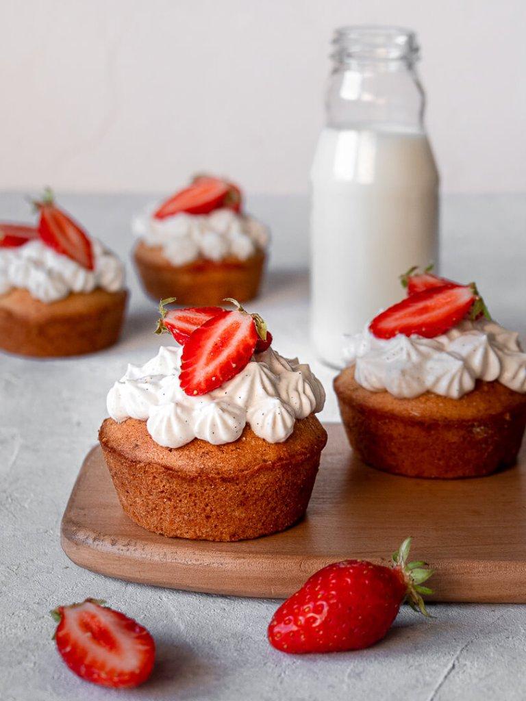 financiers fraises vanille