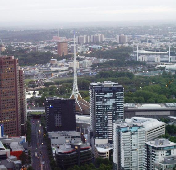 Melbourne Arts & Entertainment Centre - From Hot Air Balloon