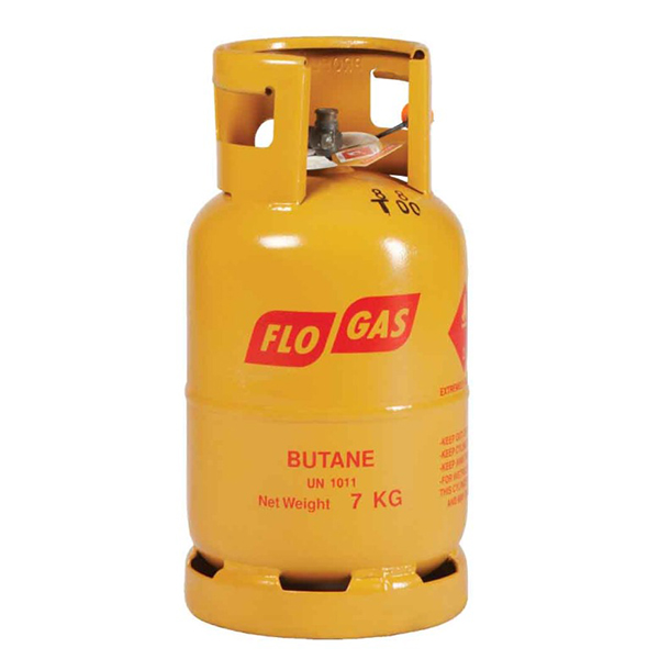 7kg Butane Flogas gas cylinders - 21mm Regulator