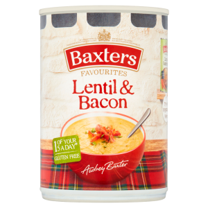 Baxters Favourites Lentil & Bacon Soup 400g