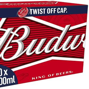 Budweiser Lager Beer Bottles 20 x 300ml