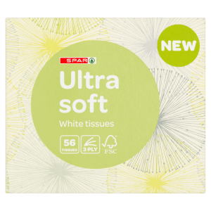 Spar Ultra Soft White Tissues 56 x 3 Ply