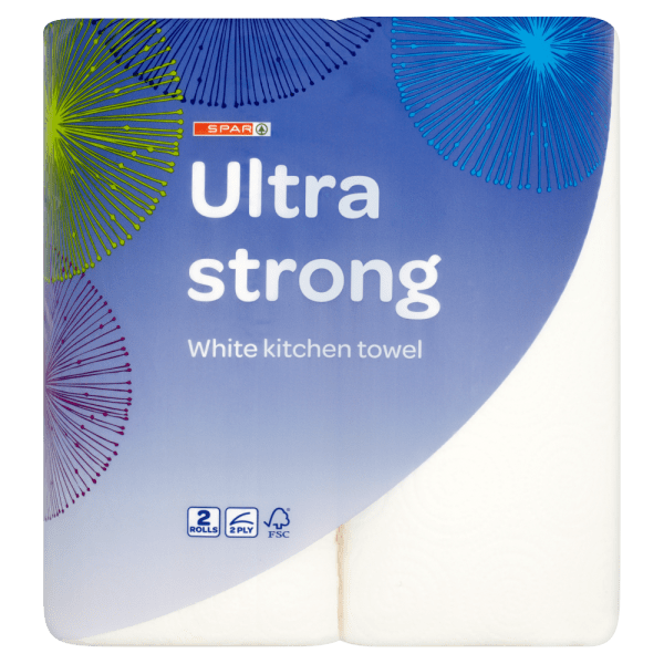Spar Ultra Strong White Kitchen Towel 2 Rolls